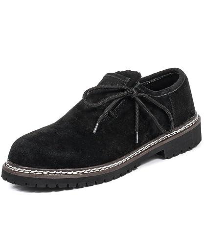 c63b18d9e23 Tracht  amp  Pracht Chaussures pour homme 100 nbsp % daim Folklore Souliers  tyroliens - noir