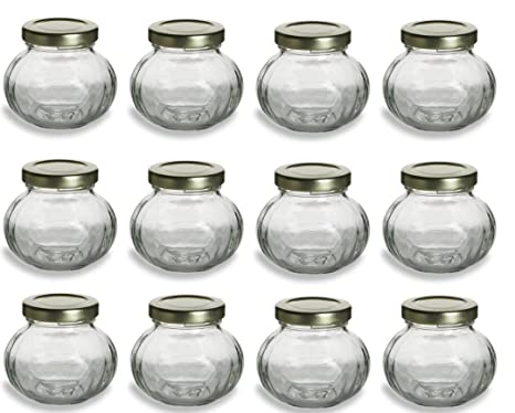 Amazon 12 Pcs 4 Oz Round Glass Jars For Jam Honey Wedding