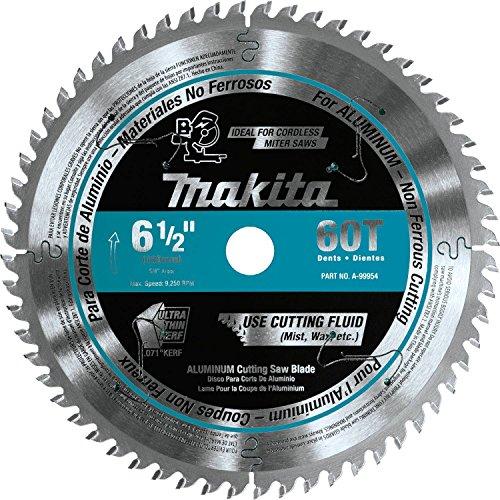 Makita A-99954 6-1/2 inch 60T Ct Ultrathin Kerf Saw Blade, Aluminum