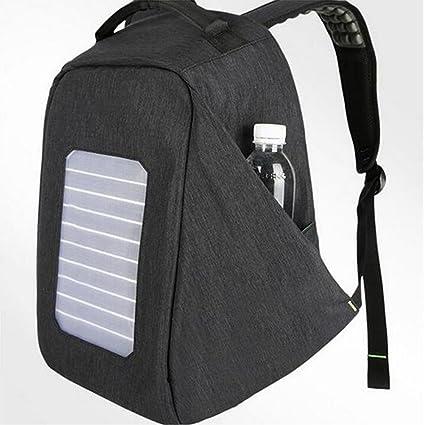 WDGT Mochila solar mochila de senderismo con energía solar Mochila con cargador solar integrado para computadoras