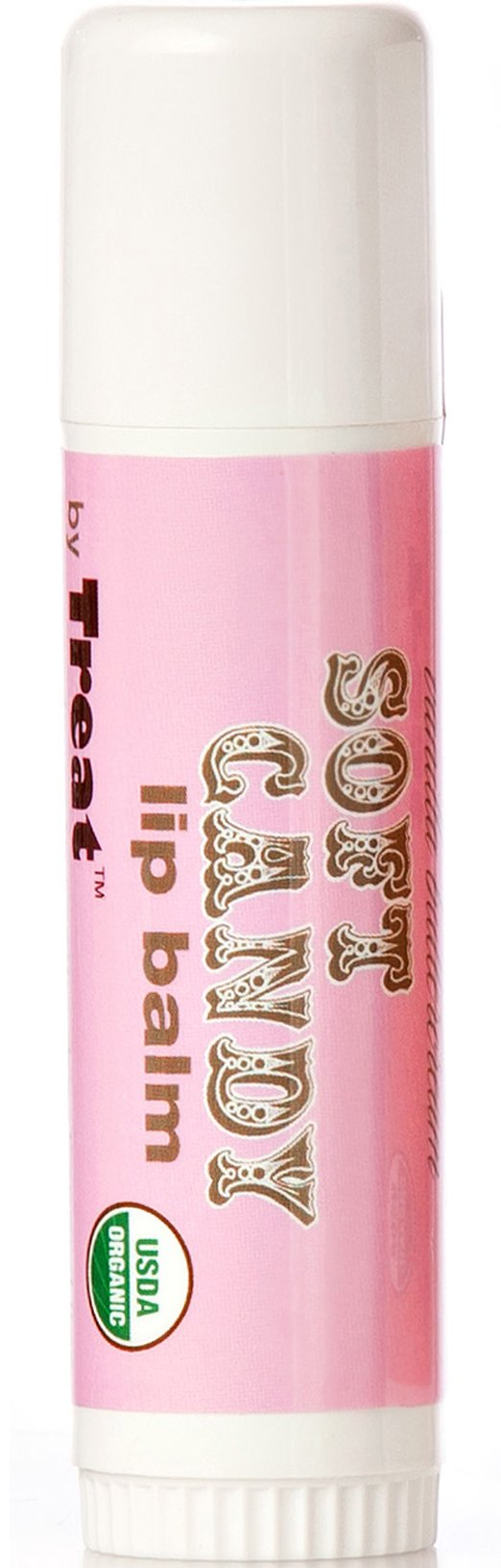 TREAT JUMBO Organic Lip Balm, Soft Candy Vanilla Buttercream, Cruelty Free .50 Ounces
