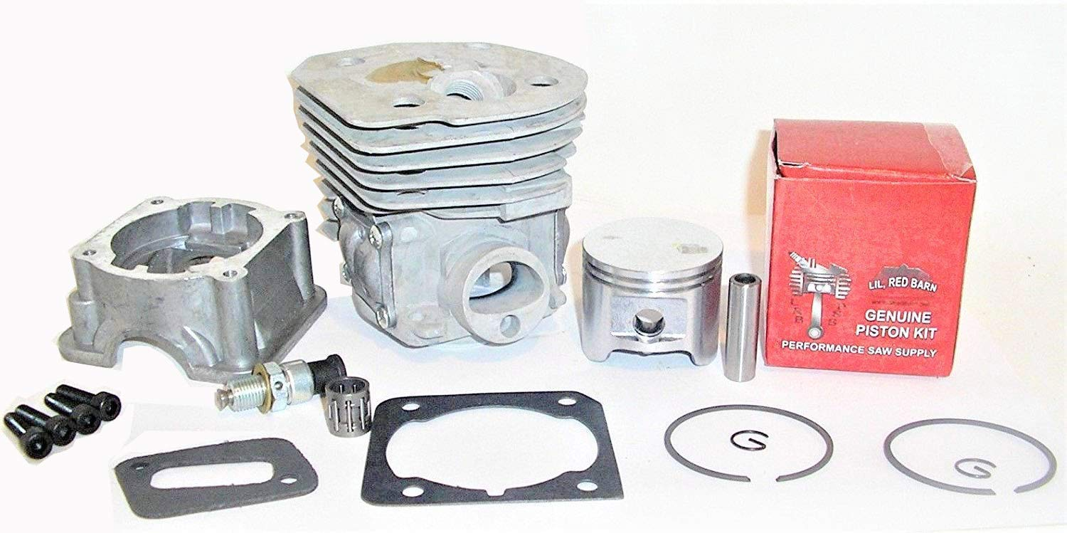 Lil Red Barn Husqvarna 350, 345, 340, 346XP, 353 Big Bore Cylinder & Piston Kit 45MM Includes Gaskets