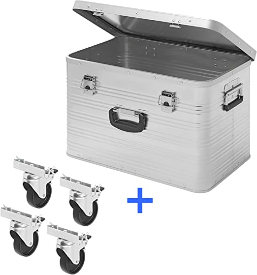 APT Caja de Aluminio para Herramientas (65 L, Aluminio), INKL. 4 ...