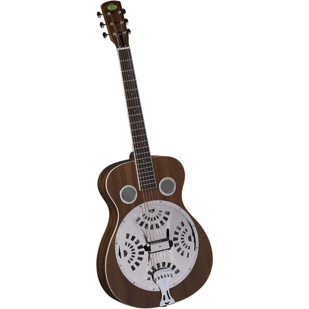 Regal RD-30M Studio Series Roundneck Resophonic Guitar - Natural Mahogany