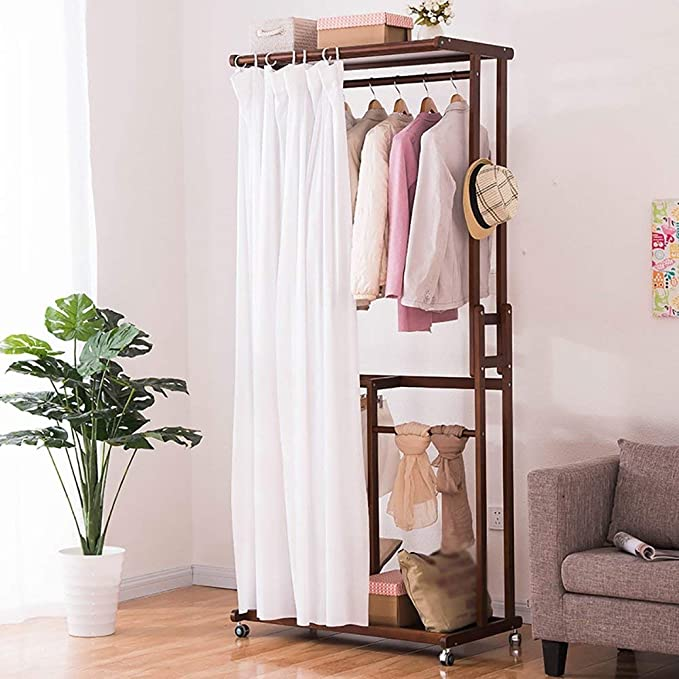 Amazon.com: XQY Drying Rack Hangers Wooden Floorstanding ...