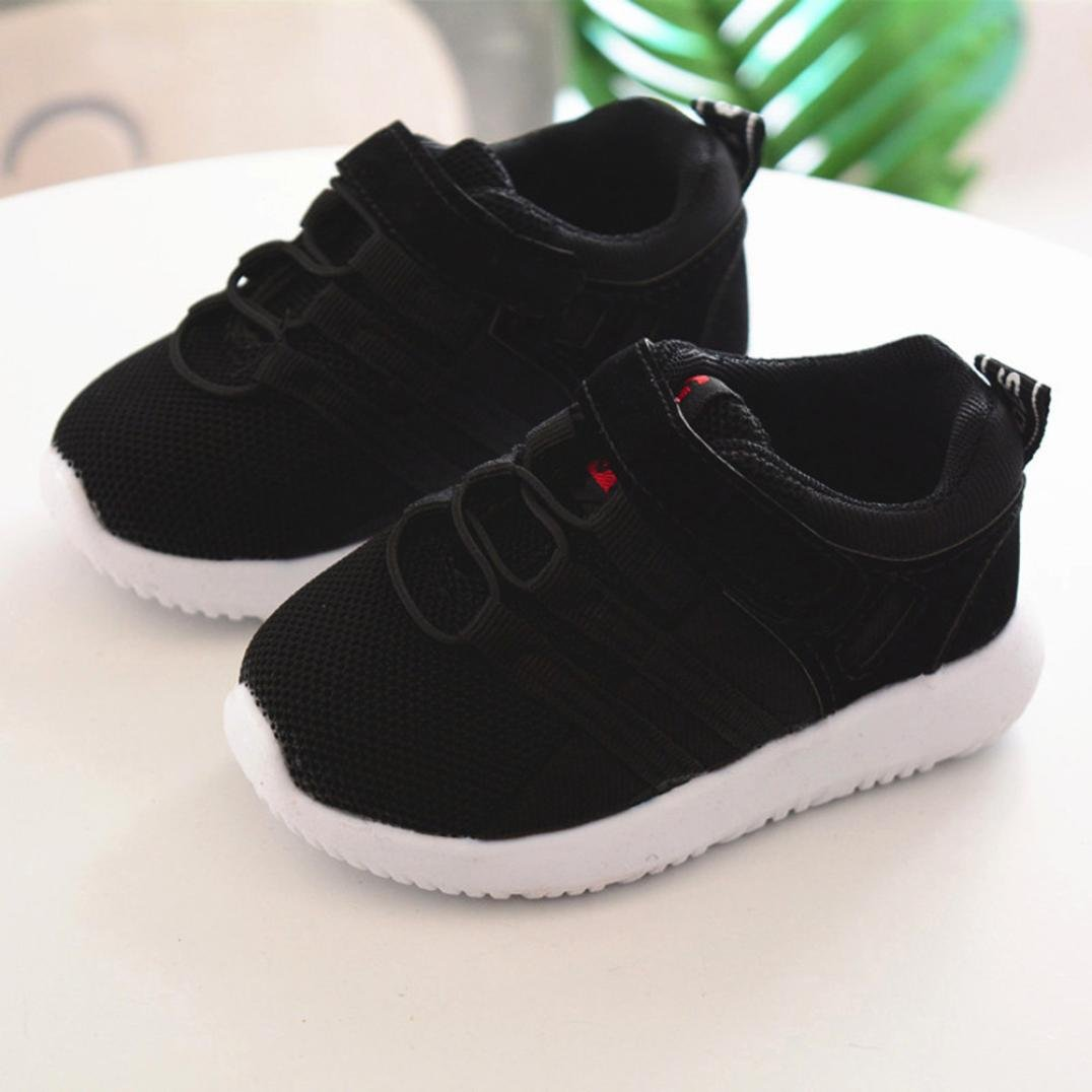 Voberry Toddler Kids Sport Running Sneakers Baby Boys Girls Breathable Mesh Soft Soled Shoes