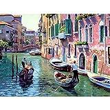 Senza cornice digitale pittura a olio DIY Paint by number kit Venezia paesaggio su tela per parete casa soggiorno Decor