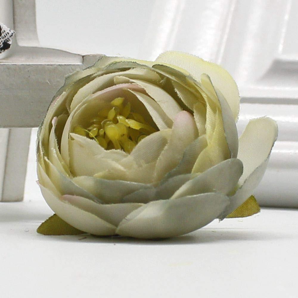 PPL21 5個/ロットシルク ミニ 小さい お茶 造花 結婚式 ホームデコレーション 海辺 花 衣類 帽子 アクセサリー 花 B07HCSHJ39 2