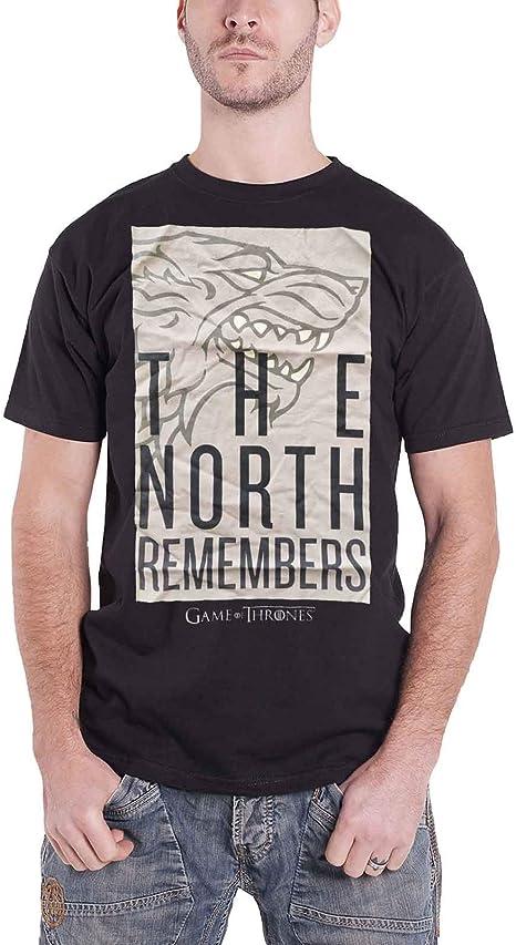 Game Of Thrones Camiseta de Hombre de Juego de Tronos The North Remembers Strong Cotton Black: Amazon.es: Ropa y accesorios