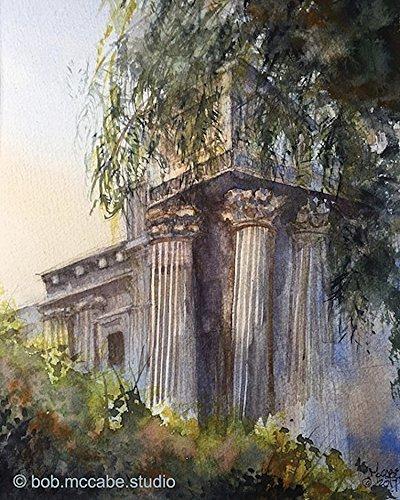 Watercolor Print, Palace of Fine Arts, San Francisco, CA (Ca Palace)