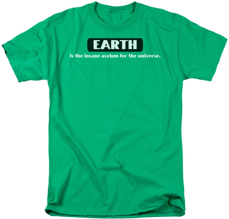 Funny Tees - Mens Insane Asylum T-Shirt, Medium, Texas Orange