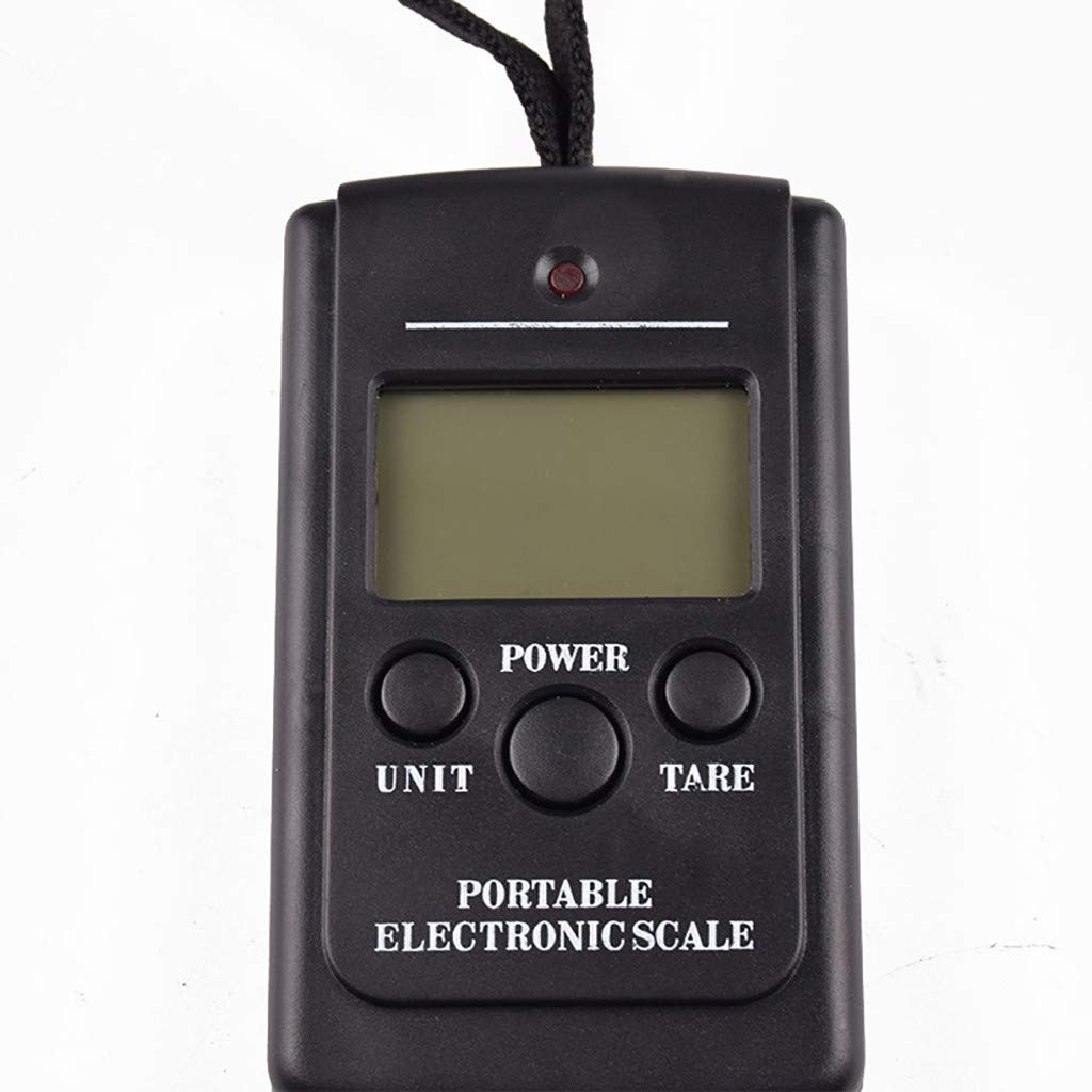 Rameng P/èse Bagage Electronique Balance de Voyage P/èse Bagage Num/érique Portatif avec Grand Ecran LED 5g~40kg