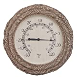 15'' Rope Weave Weather Wireless Thermometer