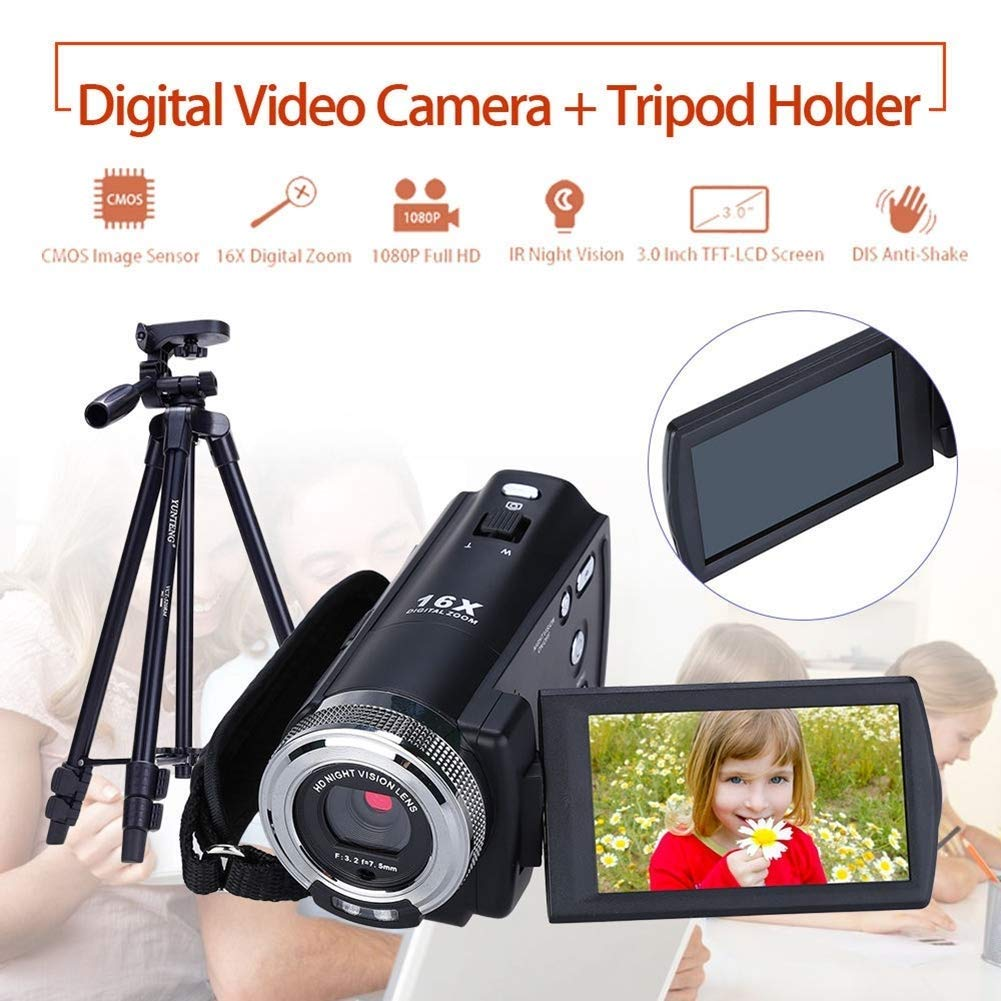 ZAQXSW Mini Digital Camera, HD Digital Camera Kids Childrens Point and Shoot Rechargeable Digital CamerasSports,Travel,Holiday,Birthday Present by ZAQXSW (Image #5)