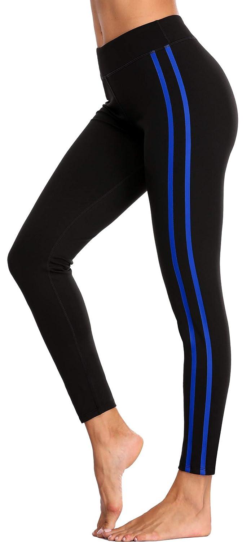 bluee 1 belamo Women's Compression Yoga Pants Tummy Control Leggings Workout Running Pants