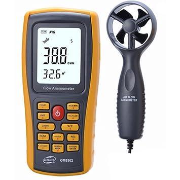Usoland Digital: anemómetro de mano digital, sensor LCD de velocidad del viento Mini Smart., 0.61: Amazon.es: Hogar