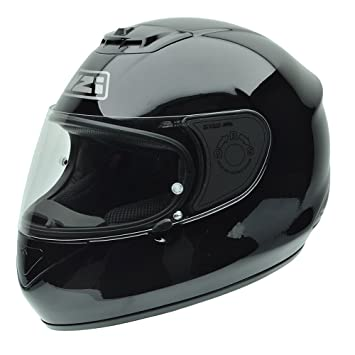 NZI 010265G047 Spyder V Black Casco de Moto, Negro, Talla 57 (M)