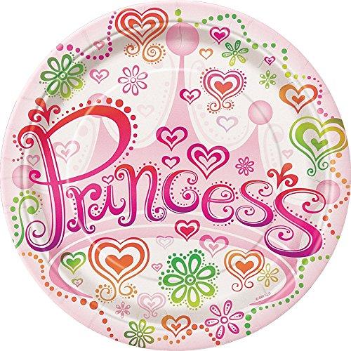 Diva Princess Dessert Plates, 8ct (Princess Cake Plates)