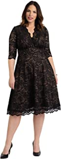 product image for Kiyonna Women's Plus Size Special Occasion Mademoiselle Lace Cocktail Dress
