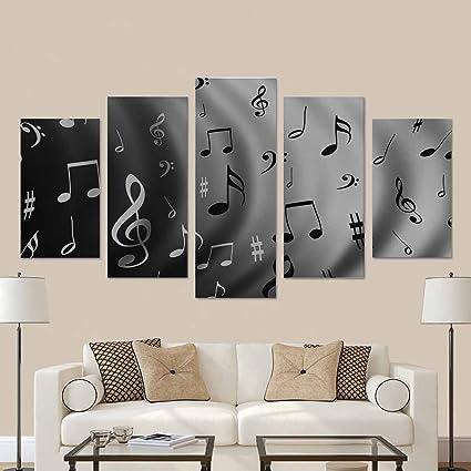 Amazon.com: InterestPrint Music Notes Canvas Prints Wall Art for ...
