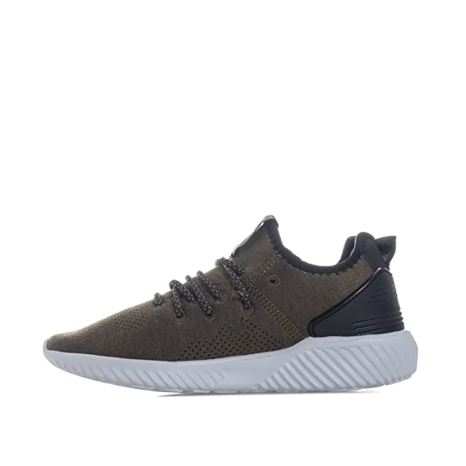 Lace Fastening Sock Like Junior Boys Beck And Hersey Supreme Trainers In Khaki