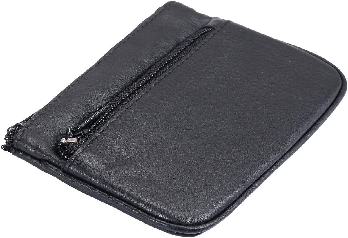 Avanco Mens Leather Key bag 3.1 x 4.9 x 0.4 inch Black