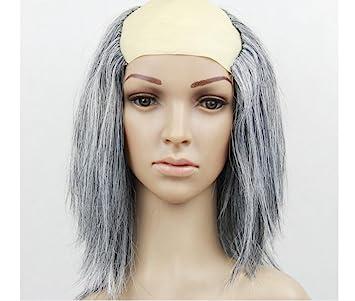 Fuentes del partido peluca calva Halloween . black grey wig