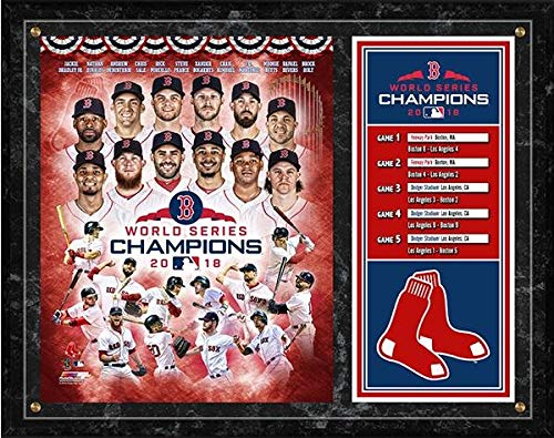 Red Boston Sox Plaque - Boston Red Sox 2018 World Series Photo Plaque (Size: 12