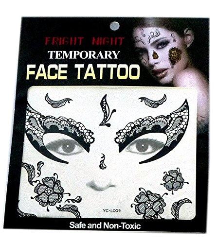 Lote 6 - Face 2 tatuaje temporal `Mask` 14cm - Calidad COOLMINIPRIX®: Amazon.es: Bricolaje y herramientas