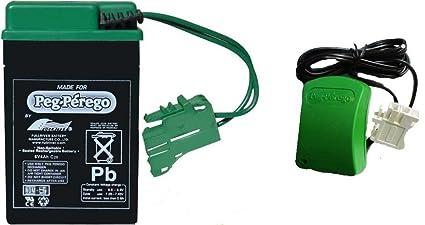Amazon.com: Peg Perego verde batería y cargador Combo Pack ...