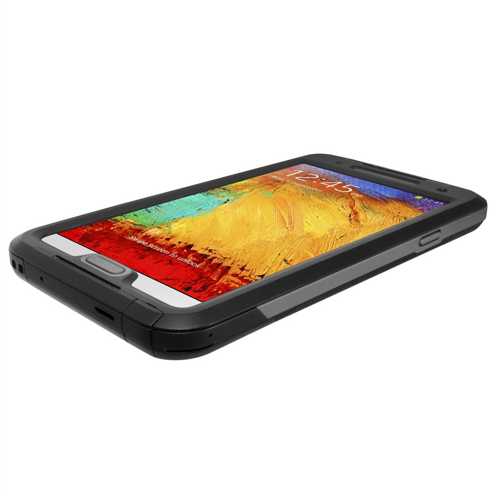 Seidio OBEX Waterproof Case for Samsung Galaxy Note 3 - Retail Packaging - Black with Gray