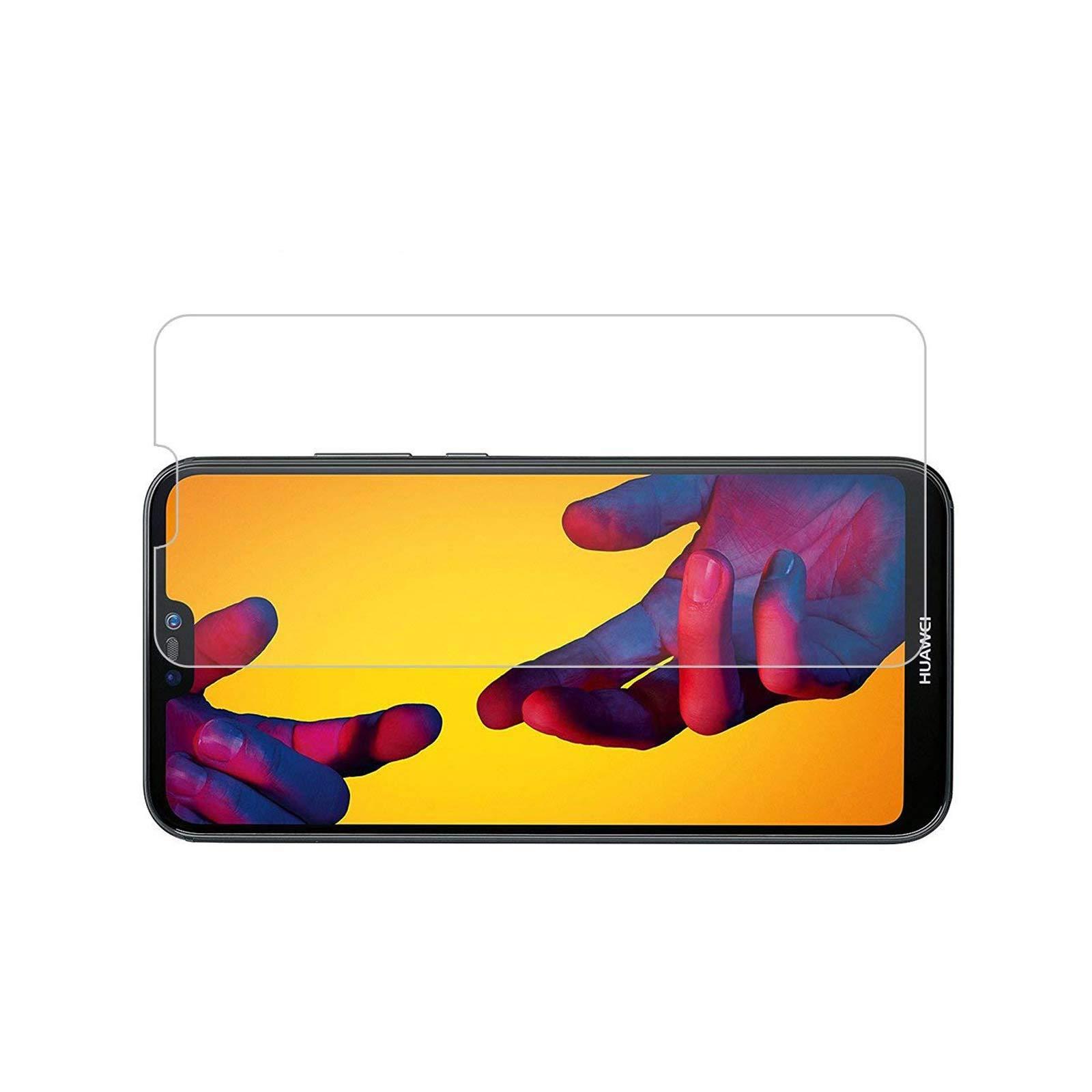 LINCIVIUS  Ecran Verre Trempé Huawei P20 Lite, Vitre Protection Ecran Rigide intégral Bord à Bord, [Compatible avec Une Coque] - Transparent