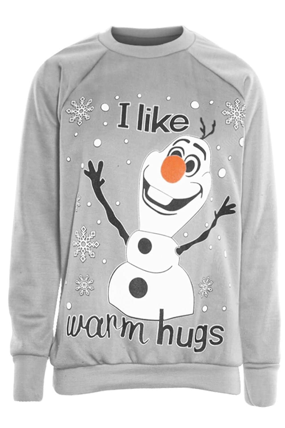 Be Jealous Womens Christmas Sweatshirts Ladies Santa Reindeer Rudolph Panda Snowman Glitter Print Fleece Knitted Long Sleeve Round Neck Pullover Jumper Top