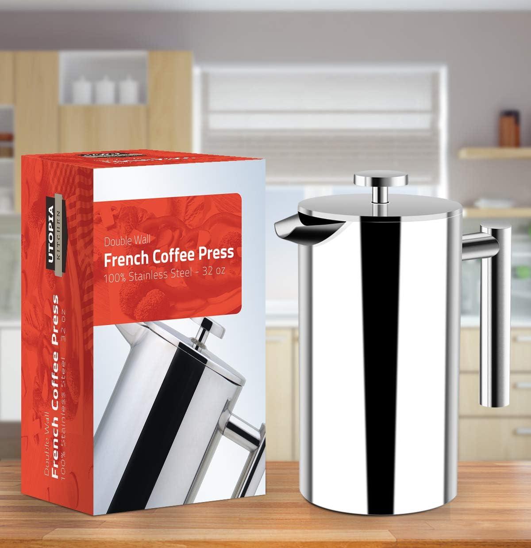 Utopia Kitchen (1 L 1000 ml) Cafetière à Piston | Français