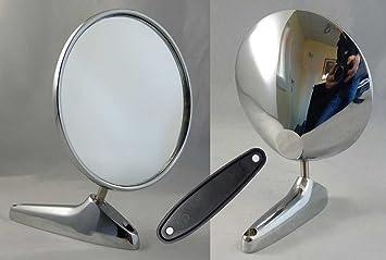 Espejo Exterior Cromado redondo para diversos clásica Vehículos: Amazon.es: Coche y moto