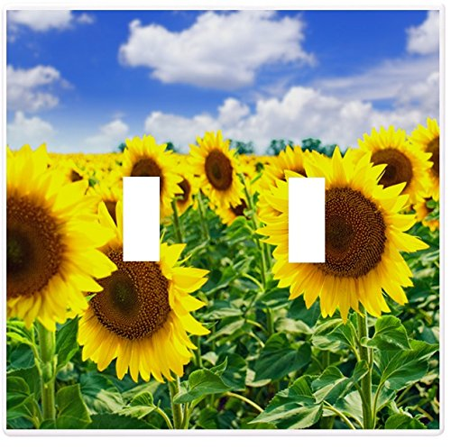 Sunflowers in Field Wallplate Decorative Switch Plate Cover (2 Gang - Double ()