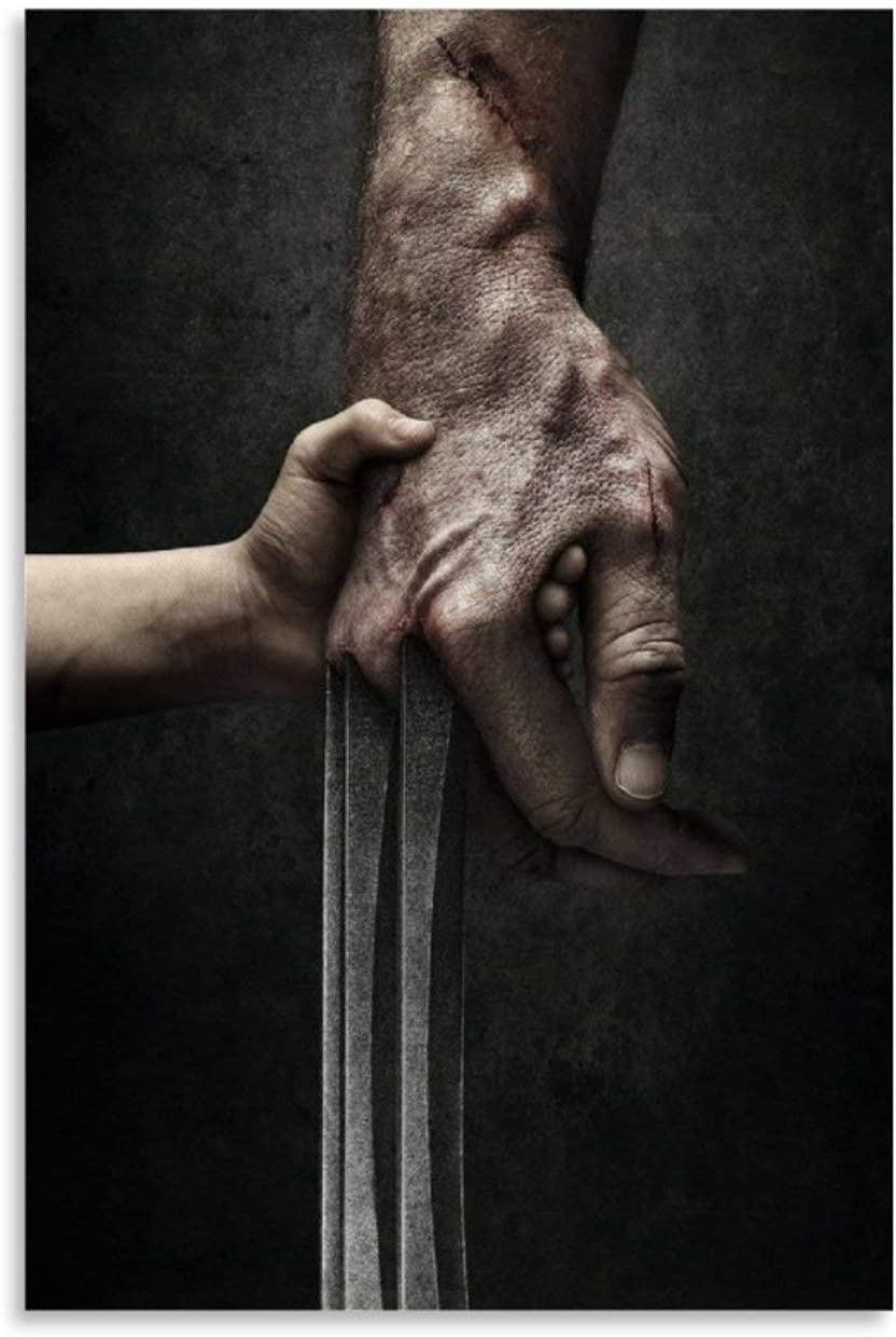 YINSHE Movie Poster Logan Wolverine Wounded Wolf Claw Canvas Art Poster and Wall Art Picture Print Modern Family Bedroom Decor Posters 20x30inch(50x75cm)
