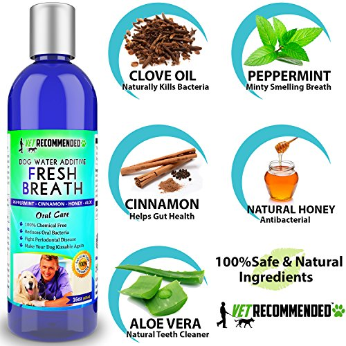 NEW-Vet-Recommended-Dog-Breath-Freshener-Water-Additive-for-Pet-Dental-Care-All-Natural-Works-to-Eliminate-Germs-That-Cause-Bad-Dog-Breath-Add-to-Pets-Drinking-Water-Made-in-USA-16oz473ml