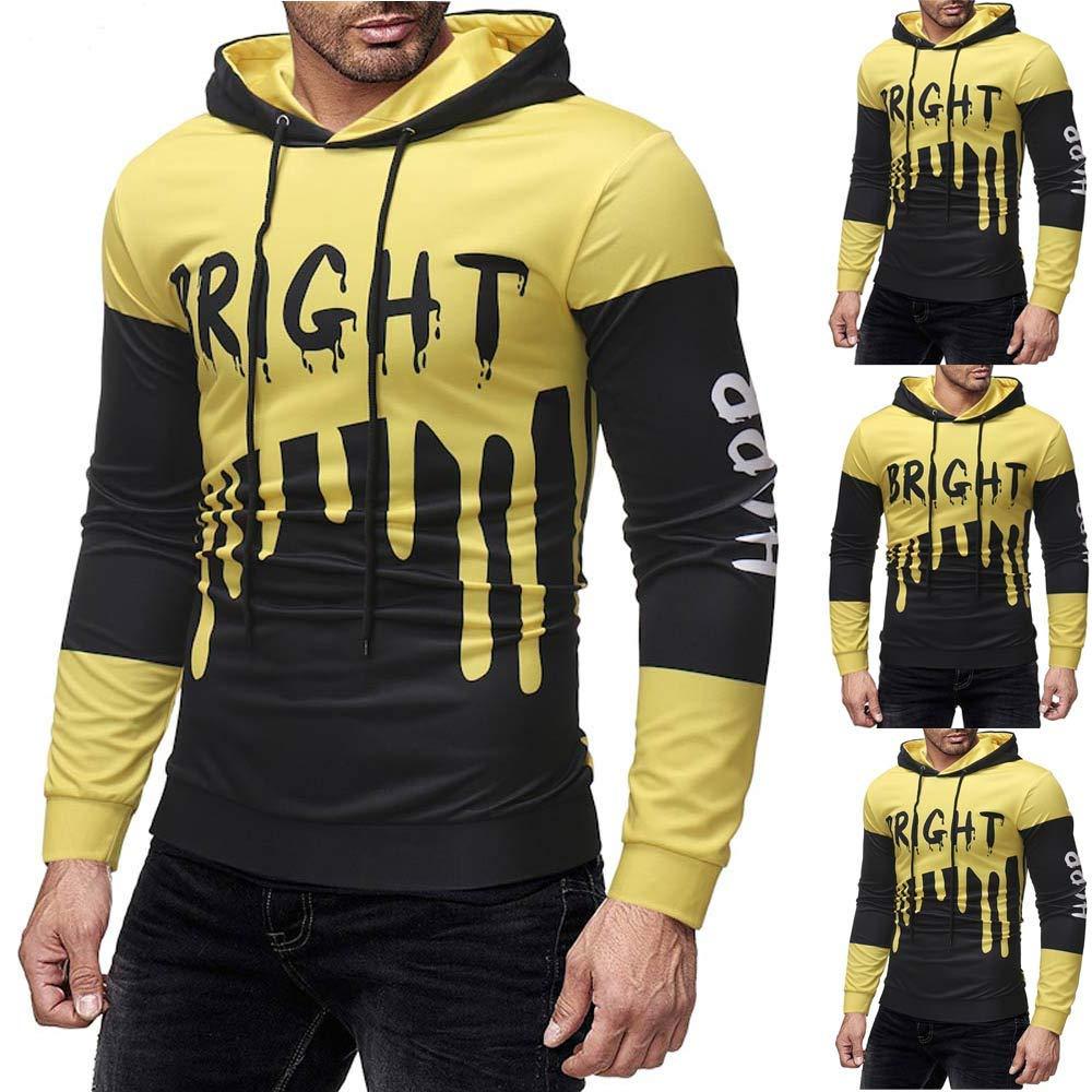 Longay Men Shirt, Mens Gradient Color Printed Pullover Long