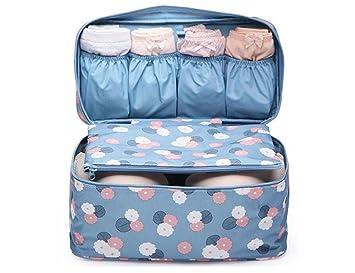 Lutanky - Organizador para maletas Mujer Hombre azul flor azul: Amazon.es: Equipaje