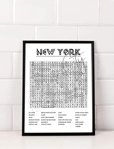 photo about Word Search Printable Pdf named : Fresh new York Town Crossword Term Glance Printable