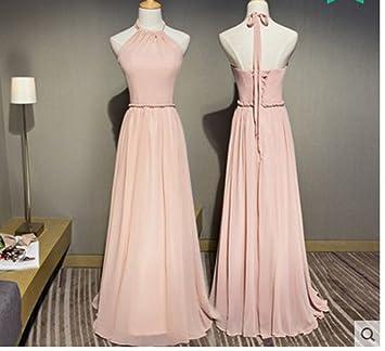 HDJJKSH Vestido de dama de honor hermanas vestido largo hombro delgado vestido de noche del banquete