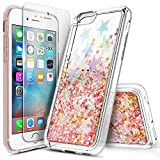iPhone 5S Case, iPhone SE/5 Case with Screen Protector for Girls Women Kids, NageBee Glitter Liquid Sparkle Bling Floating Waterfall Quicksand Diamond Cute Durable Case for iPhone 5/5S/SE -Star