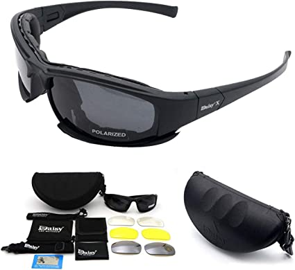 VENTURA TRADING Nuevo Gafas de Sol polarizadas Daisy X7 Ejército Militar del ejército táctico Gafas Gafas al Aire Libre 4 Lentes Gafas de Sol para ...