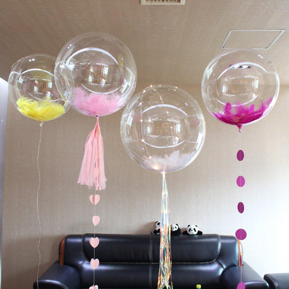 ElementDigital LED Balloon Light Up Transparent Balloons LED Multi Light for Christmas Birthday Cub Wedding and Party Battery 18 inch 10 pcs by ElementDigital (Image #8)