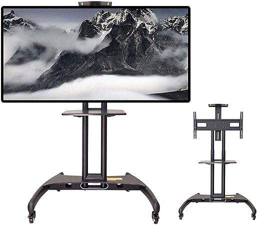 HANG Soporte para televisor para el Piso, Ajuste de la Altura de la gestión de Cables para la Pantalla de Plasma de Pantalla Plana LED LCD de 32