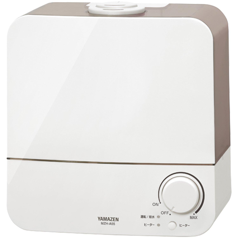 山善(YAMAZEN) 5.5L 超音波加熱式 ハイブリッド式加湿器(木造約8畳まで/プレハブ約13畳まで) グレー MZH-A551(H) B075RBWBN4