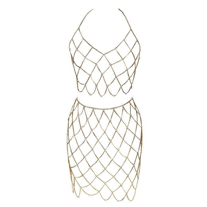 Body Chain - Conjunto de Falda de Playa para Mujer, arnés de ...