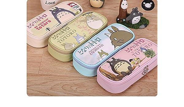 Nuwa Hayao Miyazaki Mi vecino Totoro Anime multifuncional Cute Cartoon estuche de maquillaje bolsa Color aleatorio Entrega: Amazon.es: Oficina y papelería