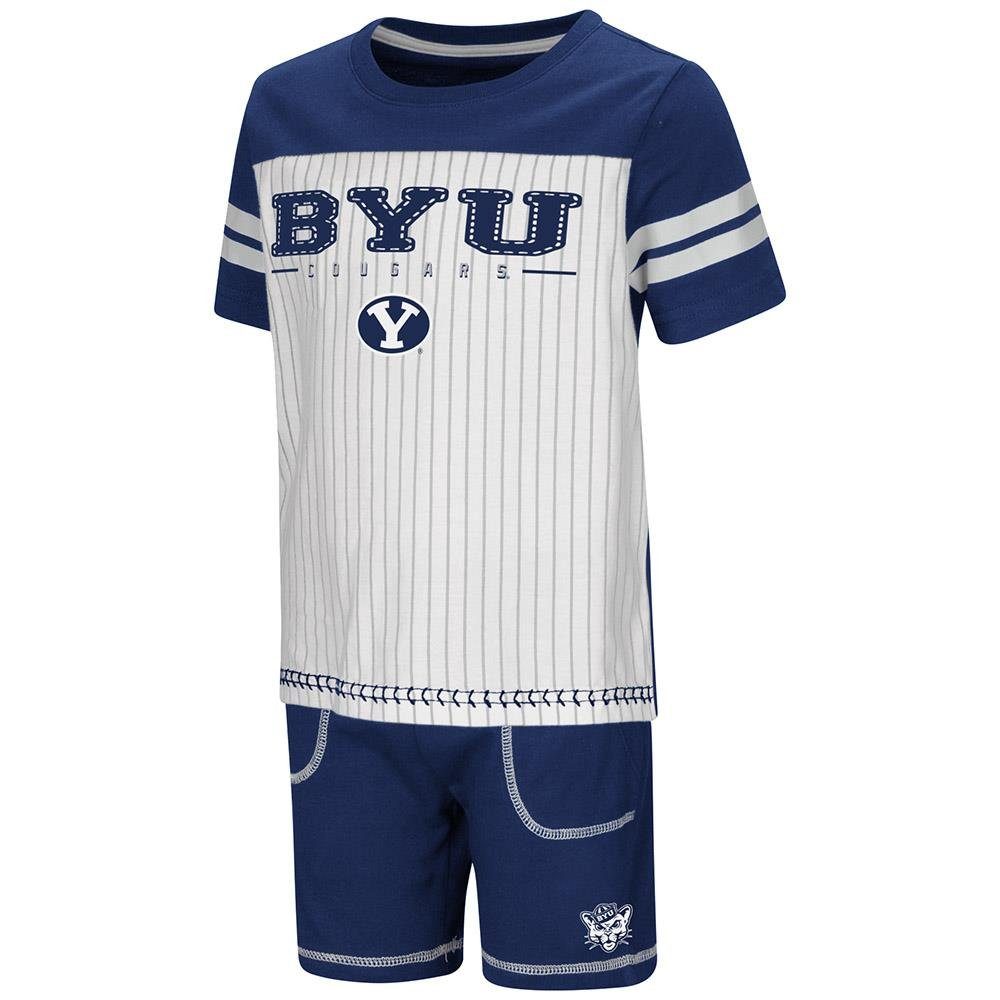 best service 2cd09 9b144 Amazon.com: Colosseum Toddler BYU Cougars Pinstripe Tee ...